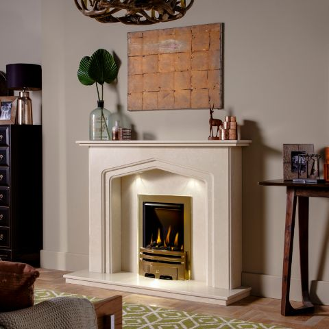 Charlton Marble Fireplace - Roman Stone Marble