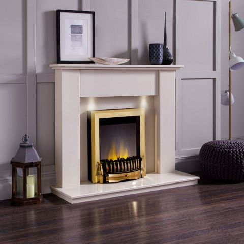 Madrid Marble Fireplace - China White Marble