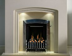 Trieste Marble Fireplace - Beige Stone Marble