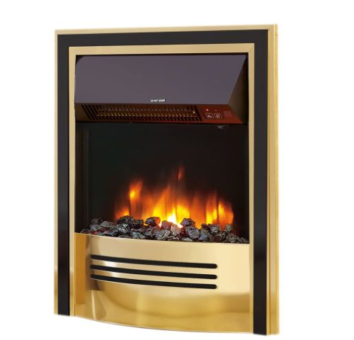 Accent Infusion Electric Fire - Brass & Black