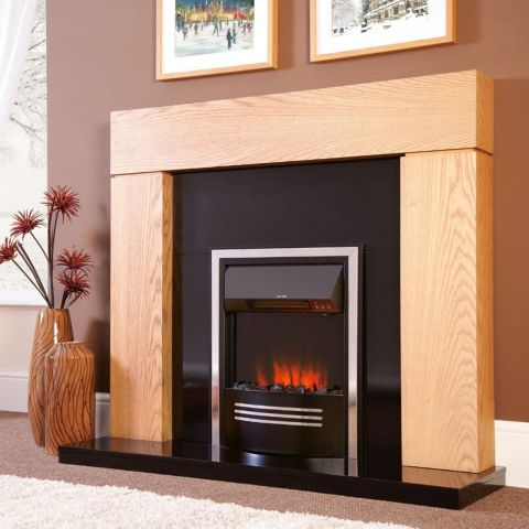 Accent Infusion Electric Fire - Black & Chrome