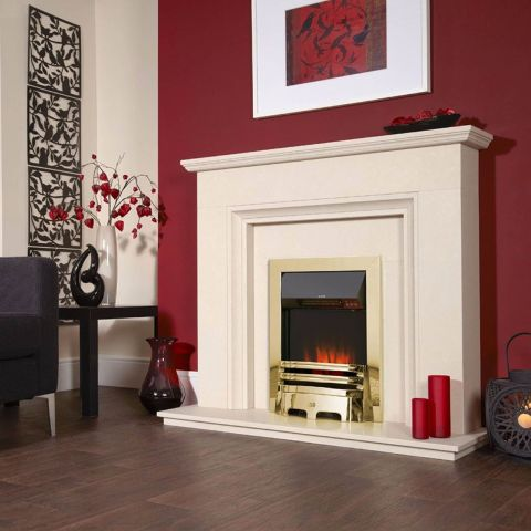 Celsi - Accent Traditional Electric Fire - Brass