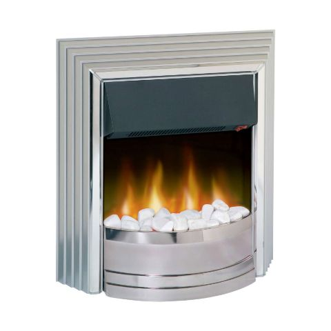 Castillo Electric Fire - White Pebbles