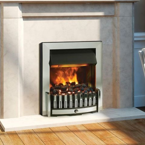 Danville Opti-Myst Electric Fire - Chrome - Coal