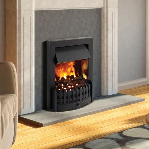 Danville Opti-Myst Electric Fire - Black - Coal