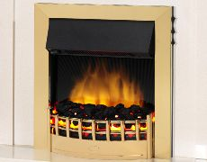 Wesley Electric Fire - Brass