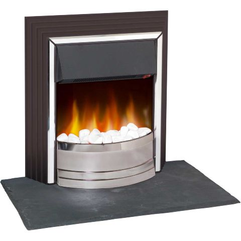 Zamora Electric Fire - White Pebbles