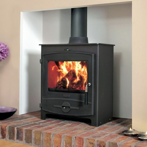 Flavel - No.2 Multifuel Stove - CV07 - Curved Door