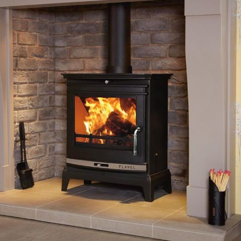 Rochester 7 Multi Fuel Stove - Silver Door Trim