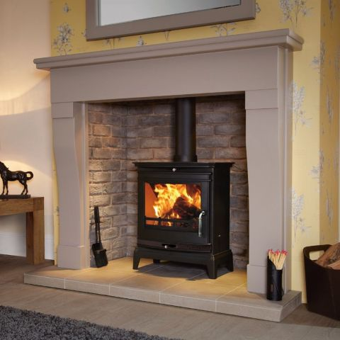 Flavel - Rochester 7 Multi Fuel Stove - Black Door Trim