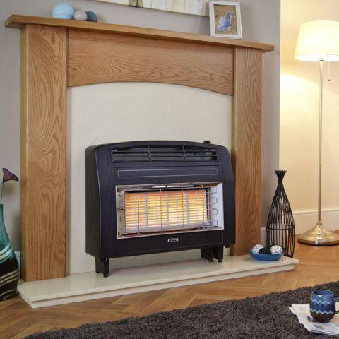 Strata Outset Gas Fire - Strata Outset Gas Fire - Black
