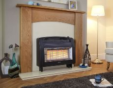 Strata Outset Gas Fire - Strata Outset Gas Fire - Black