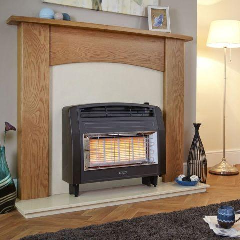 Strata Outset Gas Fire - Strata Outset Gas Fire - Brown