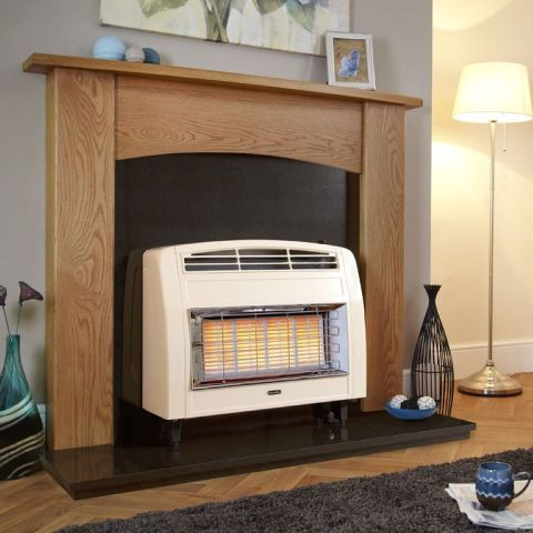 Strata Outset Gas Fire - Strata Outset Gas Fire - Cream