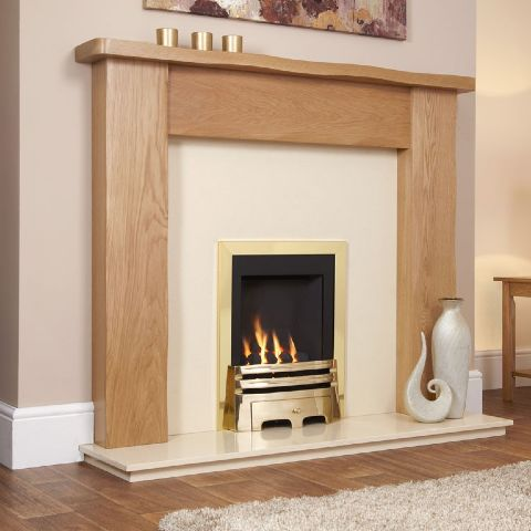 Windsor Classic Gas Fire - Brass - Coal