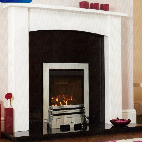 Kohlangaz - Durlston Balanced Flue Gas Fire - Coals - Chrome Trim - Grace Fire Front In Chrome