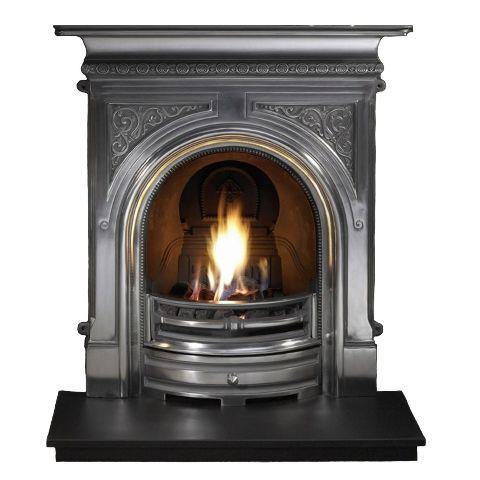 Celtic Combination Cast Iron Fireplace - Full Polished