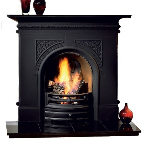 The Gallery Collection - Pembroke Combination Cast Iron Fireplace - Black