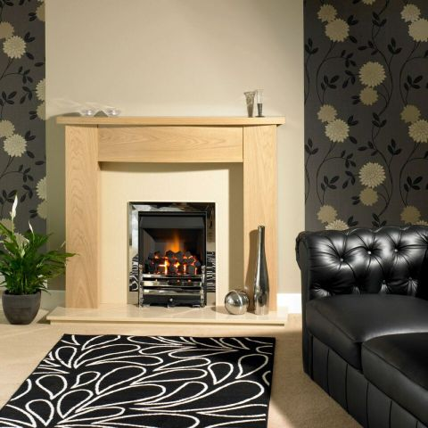 Trent Fireplaces - Bamford Fire Surround - In Clear Oak