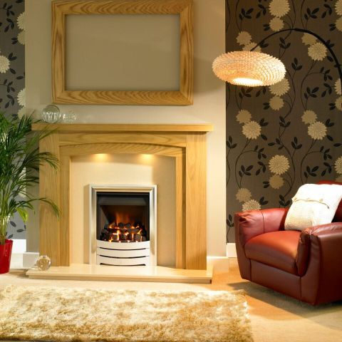 Trent Fireplaces - Benidorm Arch Fire Surround - Benidorm Arch Fire Surround - In Natural Oak
