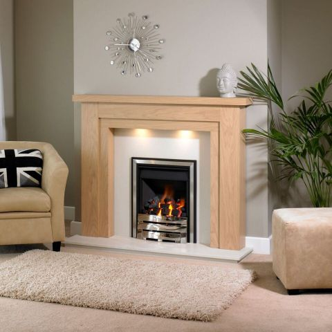 Trent Fireplaces - Benidorm Fire Surround - Benidorm Fire Surround - In Clear Oak