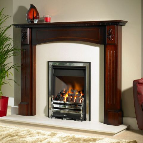 Trent Fireplaces - Bradleigh Fire Surround - Bradleigh Fire Surround - In Dark Mahogany