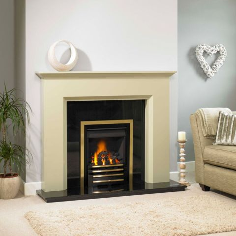 Calais Fire Surround - In Celadon