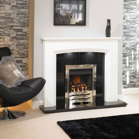 Trent Fireplaces - Calgary Fire Surround - In White