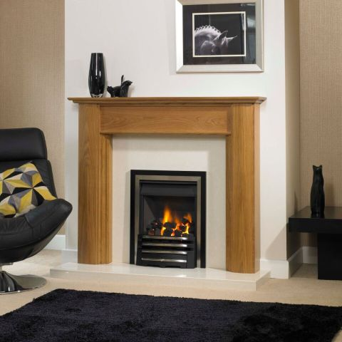 Trent Fireplaces - Canti Fire Surround - Canti Fire Surround - In Natural Oak