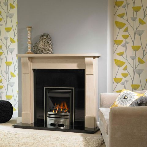 Trent Fireplaces - Carlise Fire Surround - Carlise Fire Surround - In Washed Oak