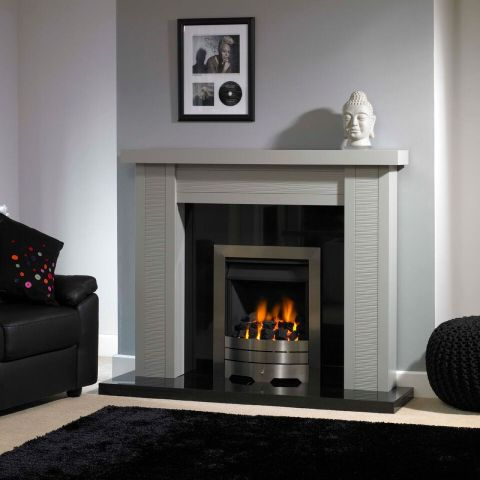 Trent Fireplaces - Caspian Fire Surround - Caspian Fire Surround - In Mineral Grey