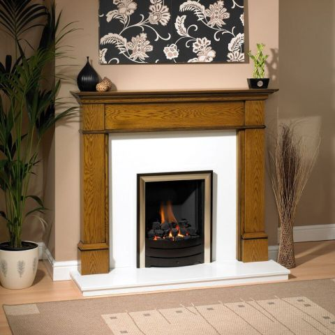 Trent Fireplaces - Cavendish Fire Surround - In Light Oak Patina