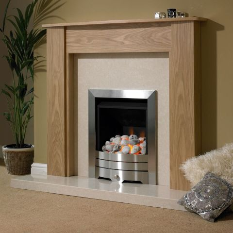 Trent Fireplaces - Cortina Fire Surround - Cortina Fire Surround - In Clear Oak