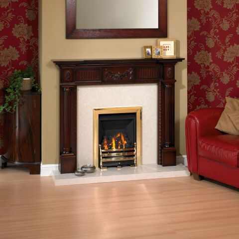 Trent Fireplaces - Dorchester Fire Surround - In Dark Mahogany Shaded