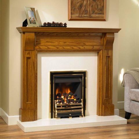 Trent Fireplaces - Farnboro Fire Surround - Farnboro Fire Surround - In Light Oak