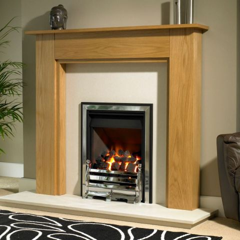 Trent Fireplaces - Fernwood Fire Surround - Fernwood Fire Surround - In Natural Oak