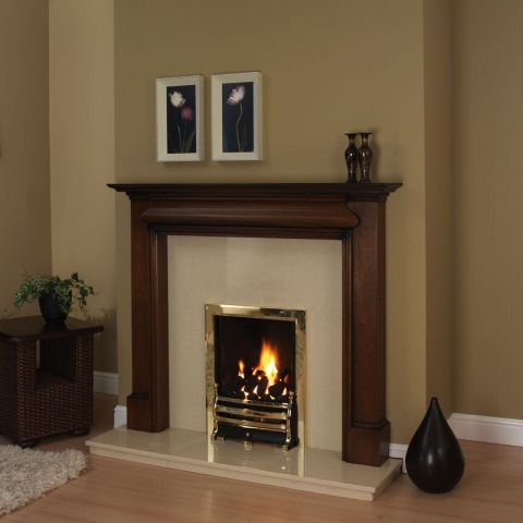 Trent Fireplaces - Grampian Fire Surround - Grampian Fire Surround - In Brown Mahogany Patina