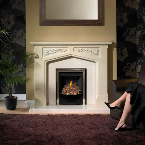 Guildford Fire Surround - Guildford Fire Surround - In Silkstone Creme