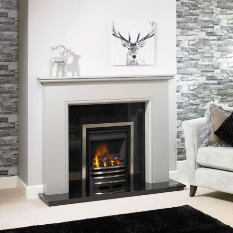 Highland Fire Surround - Highland Fire Surround - In Mineral Grey