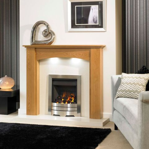 Trent Fireplaces - Howden Fire Surround - Howden Fire Surround - In Natural Oak