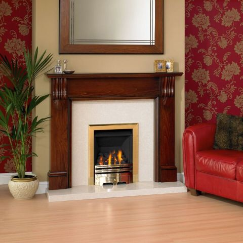 Kingsbury Fire Surround - Kingsbury Fire Surround - In Cherry Patina