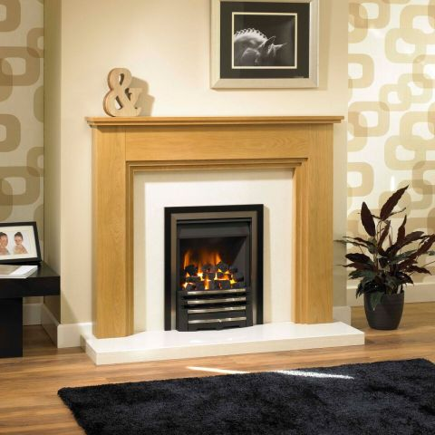 Trent Fireplaces - Kirk Fire Surround - In Clear Oak