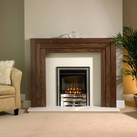Trent Fireplaces - Linear Fire Surround - Linear Fire Surround - American Walnut