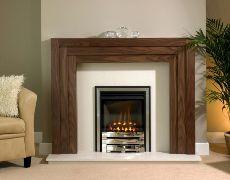Linear Fire Surround - Linear Fire Surround - American Walnut