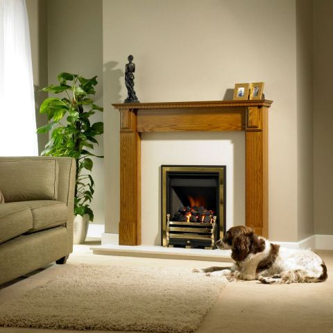Trent Fireplaces - Louth Fire Surround - Louth Fire Surround - In Light Oak