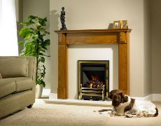 Louth Fire Surround - Louth Fire Surround - In Light Oak