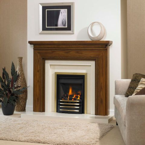 Trent Fireplaces - Melbourne Fire Surround - Melbourne Fire Surround - In Light Oak Patina