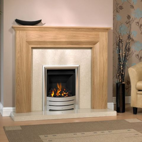 Trent Fireplaces - Milan Fire Surround - Milan Fire Surround - In Clear Oak
