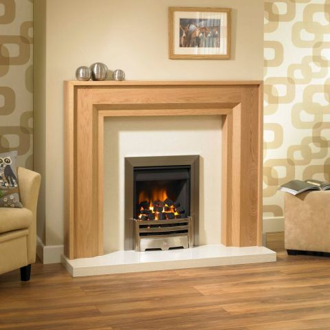 Trent Fireplaces - Milarno Fire Surround - Milarno Fire Surround - In Oiled Oak