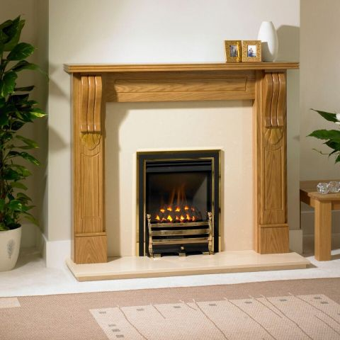 Seville Fire Surround - In Natural Oak